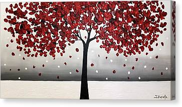 Autumn Snow Canvas Print by Tomoko Koyama