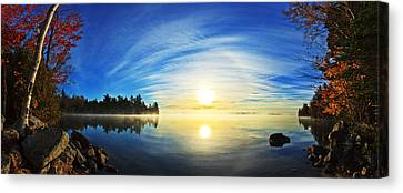 Autumn Sunrise At Meddybemps Canvas Print by ABeautifulSky Photography
