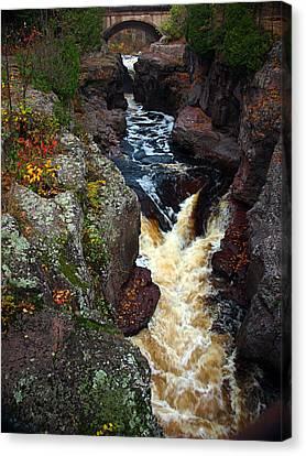 Autumn Temperance River Canvas Print by James Peterson