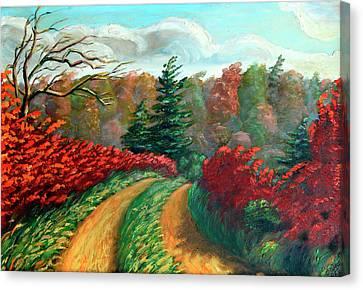 Autumn Trail Canvas Print by Hanne Lore Koehler