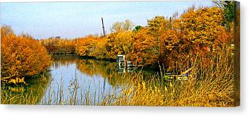 Autumn Weekend On The Delta Canvas Print by Joseph Coulombe