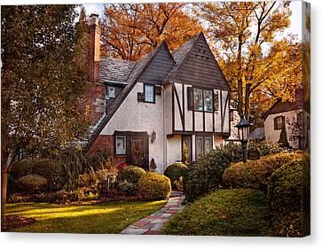 Autumn - Westfield Nj - Visting Grandpa's  Canvas Print by Mike Savad