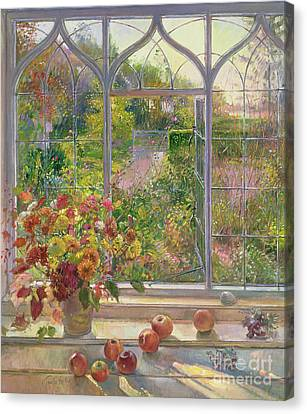 Autumn Windows Canvas Print by Timothy  Easton
