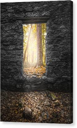 Autumn Within Long Pond Ironworks - Historical Ruins Canvas Print by Gary Heller