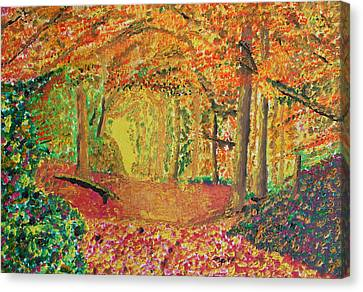 Autumn's Light Canvas Print by Harold Greer