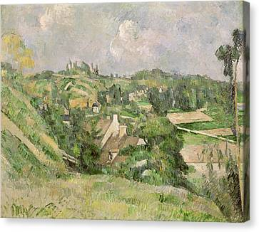 Auvers-sur-oise, Seen From The Val Harme Canvas Print by Paul Cezanne