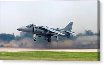 Av-8b Harrier Canvas Print by Adam Romanowicz