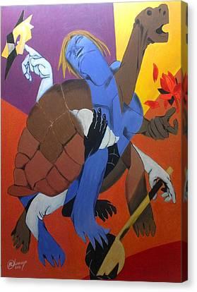 Avatar Series-kurma Canvas Print by Chinmaya BR
