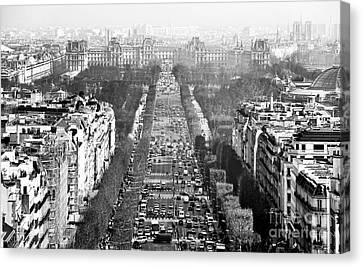 Avenue Des Champs-elysees Canvas Print by John Rizzuto