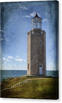 Avery Point Lighthouse Canvas Print by Joan Carroll