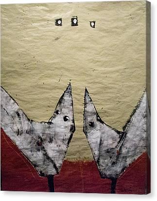 Aves Et Stellas Canvas Print by Mark M  Mellon