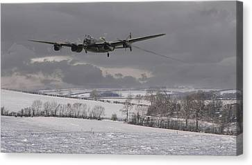 Avro Lancaster - Limping Home Canvas Print by Pat Speirs