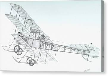 Avro Triplane Canvas Print by Rick Bennett