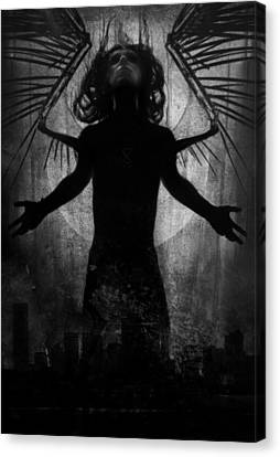 Male Angel Canvas Print featuring the mixed media Awoken by Cambion Art