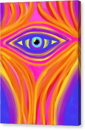 Awakening The Desert Eye Canvas Print by Daina White