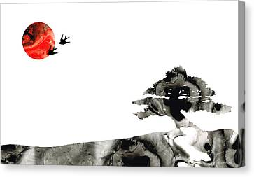 Awakening - Zen Landscape Art Canvas Print by Sharon Cummings
