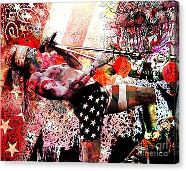 Axl Rose Original Canvas Print by Ryan Rock Artist