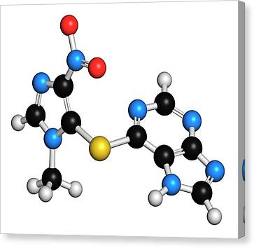 Azathioprine Immunosuppressive Drug Canvas Print by Molekuul