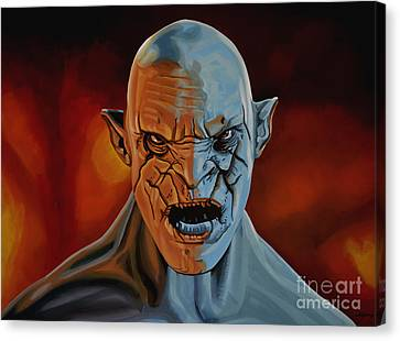 Azog The Orc Painting Canvas Print by Paul Meijering