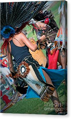 Aztecan Ceremony 16 Canvas Print by Gwyn Newcombe