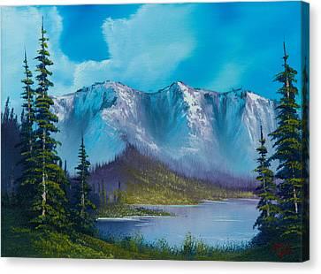 Azure Ridge Canvas Print by C Steele
