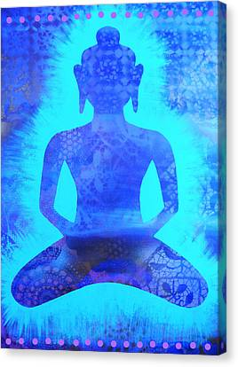 Azure Samadhi Canvas Print by Cat Athena Louise