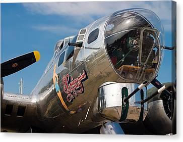B-17 Flying Fortress Canvas Print by Adam Romanowicz