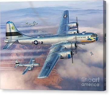 B-29s Over Korea Canvas Print by Stu Shepherd