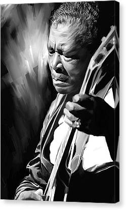 B B King Artwork Canvas Print by Sheraz A