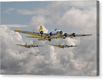 B17 486th Bomb Group Canvas Print by Pat Speirs