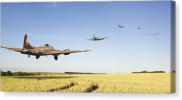 B17 -the Ripening Harvest Canvas Print by Pat Speirs