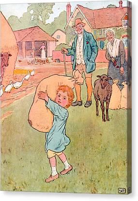 Baa Baa Black Sheep Canvas Print by Leonard Leslie Brooke