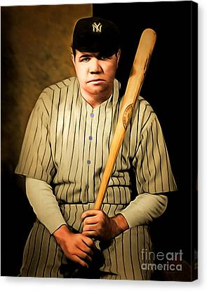 Babe Ruth 20141220 Brunaille Canvas Print by Wingsdomain Art and Photography