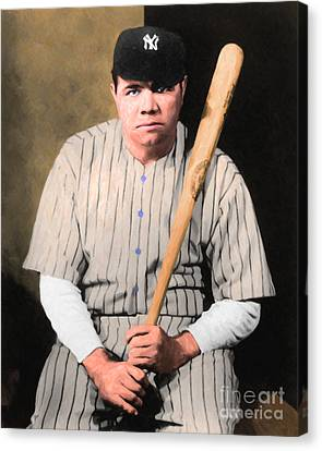 Babe Ruth 20141220 V1 Canvas Print by Wingsdomain Art and Photography