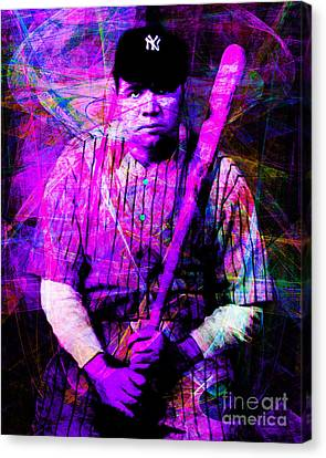 Babe Ruth 20141220 V2 M93 Canvas Print by Wingsdomain Art and Photography