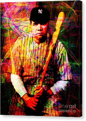 Babe Ruth 20141220 V2 Canvas Print by Wingsdomain Art and Photography