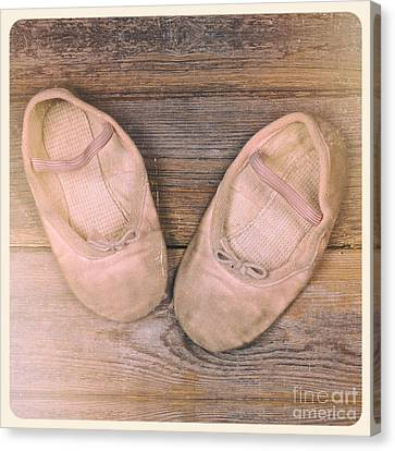 Baby Ballet Shoes Instant Photo Canvas Print by Jane Rix
