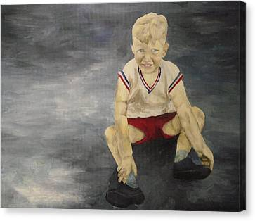 Baby Bill  Canvas Print by Mary Ellen Anderson