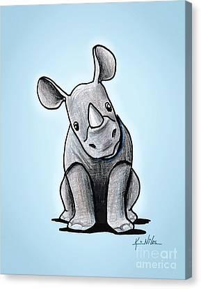 Baby Rhino Canvas Print by Kim Niles