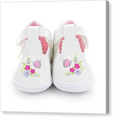 Baby Shoes Canvas Print by Elena Elisseeva