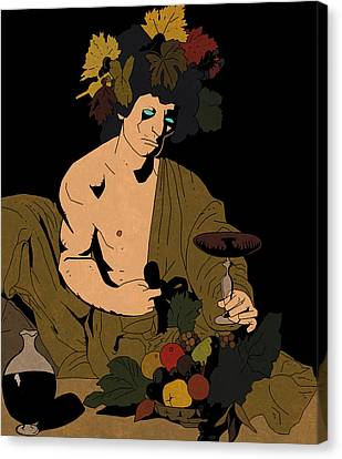 Bacchus And Mignola Canvas Print by Leo Petrov