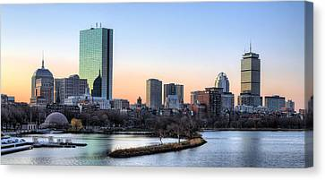 Back Bay Sunrise Canvas Print by JC Findley