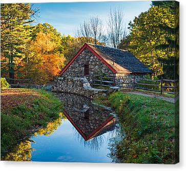 Back Of The Grist Mill Canvas Print by Michael Blanchette