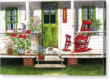 Back Porch Canvas Print by Larry Johnson