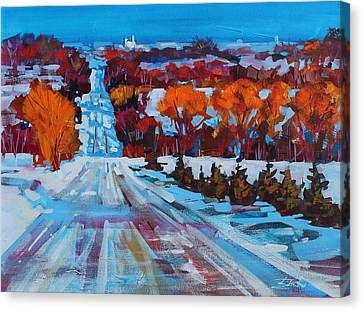 Back Road To Collingwood Canvas Print by Brian Buckrell