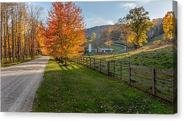 Back Roads Canvas Print by Bill Wakeley