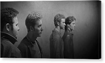 Back Stage With Nsync Bw Canvas Print by David Dehner