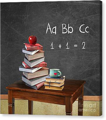 Back To School Canvas Print by Juli Scalzi