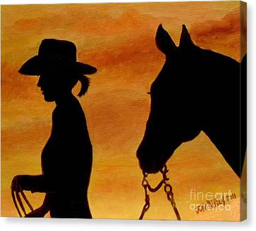 Back To The Barn Canvas Print by Julie Brugh Riffey