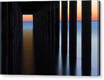 Back Under The Pier Canvas Print by Steve Myrick